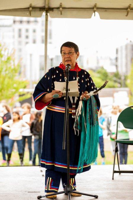 Menominee Tribe Elder Lois Chillcot.  Photo: Elliott Schofield